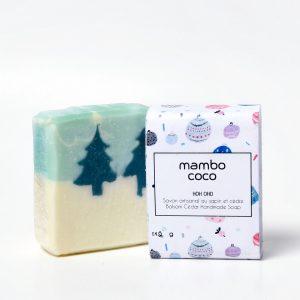 Savon artisanal au cèdre et au sapin fabriqué par Mambo Coco
