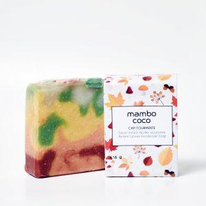 Savon artisanal Feuilles d'automne fabriqué par Mambo Coco
